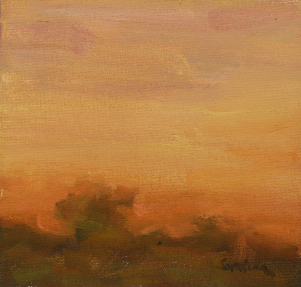 """Fall Sunrise 03"" original fine art by Scott Serafica"