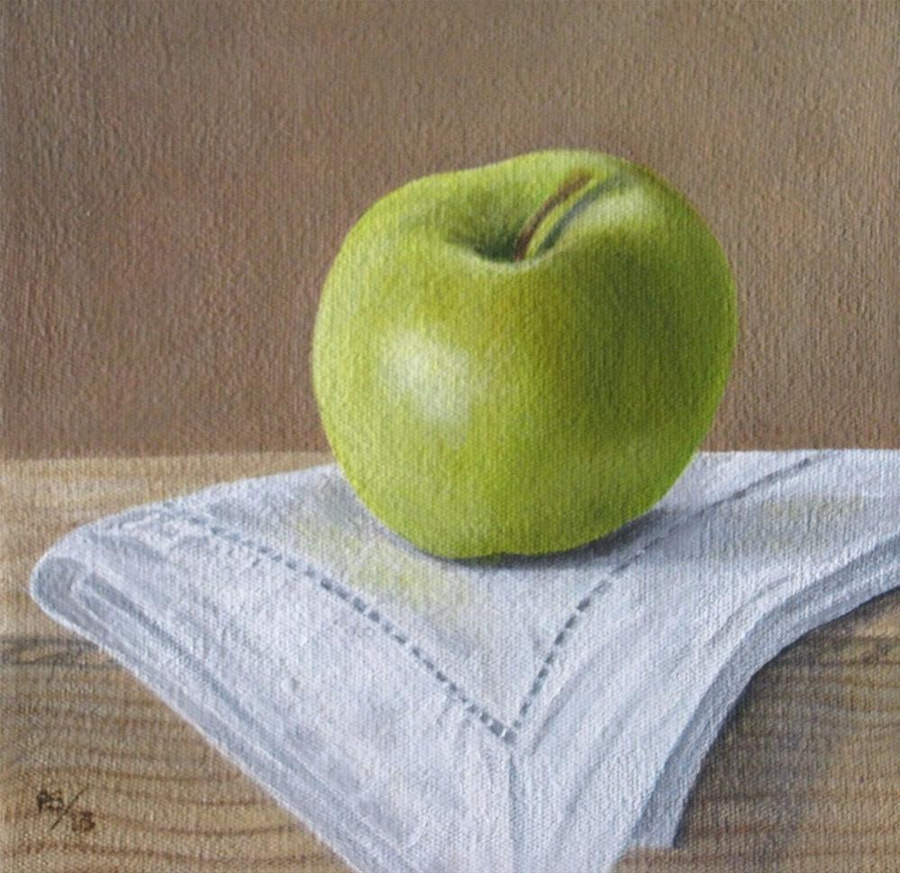 """""""Golden Delicious"""" original fine art by Pera Schillings"""