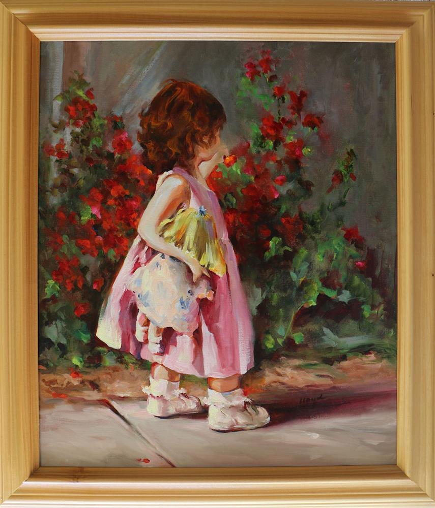 """Claire by the Bouganvillea"" original fine art by Diane Lloyd"