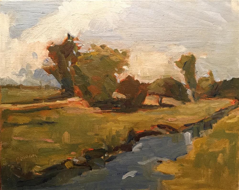 """Country Creek"" original fine art by Barb Walker"