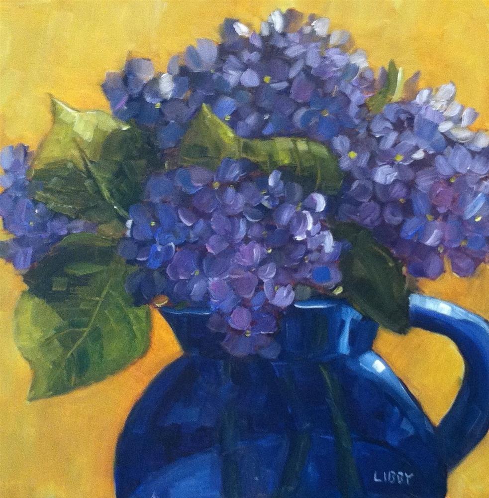 """So Blue"" original fine art by Libby Anderson"