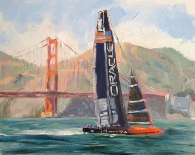 """Oracle"" original fine art by Deborah Newman"