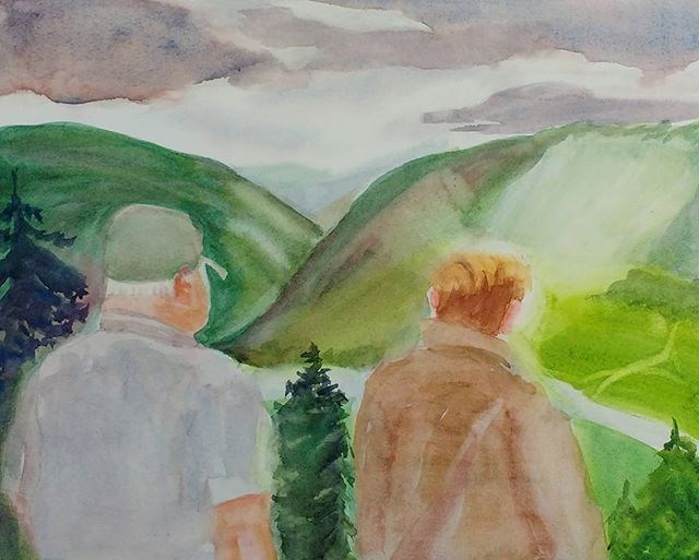 """The Quiet Men"" original fine art by Maria Peagler"