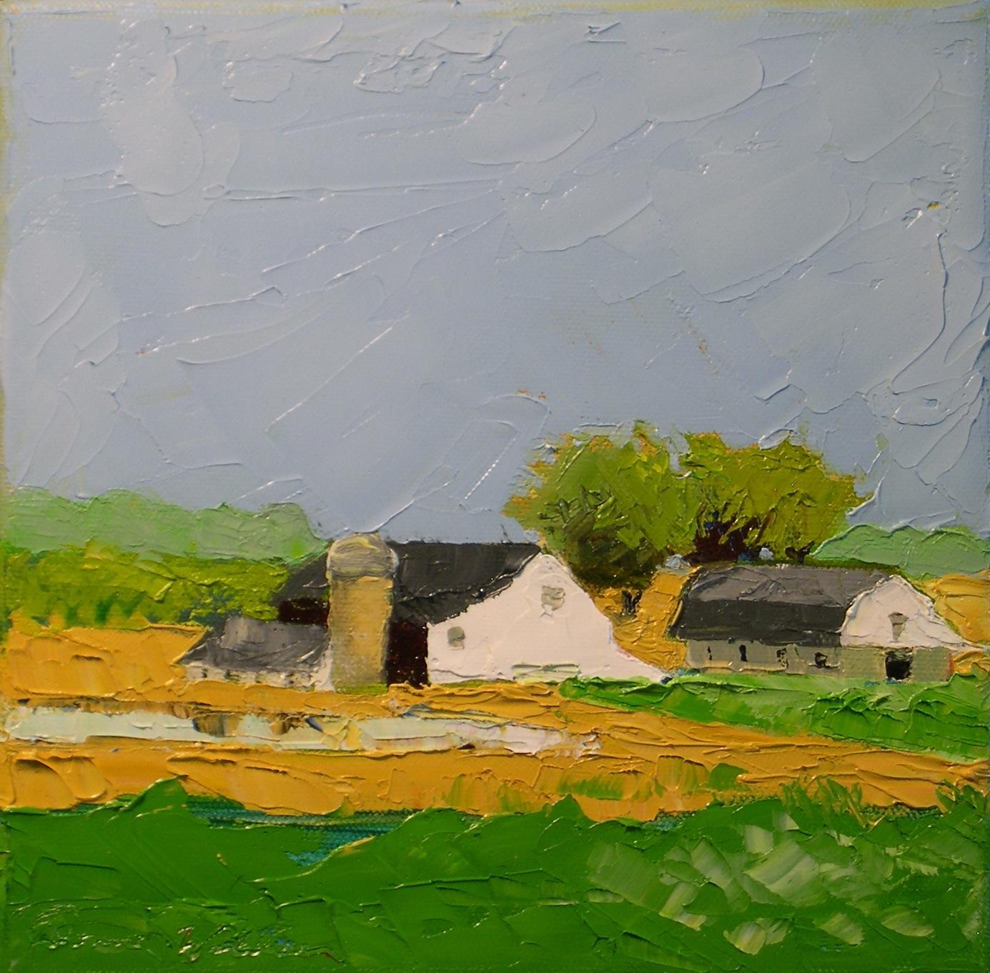 """""""Farmland"""" original fine art by Donna Walker"""