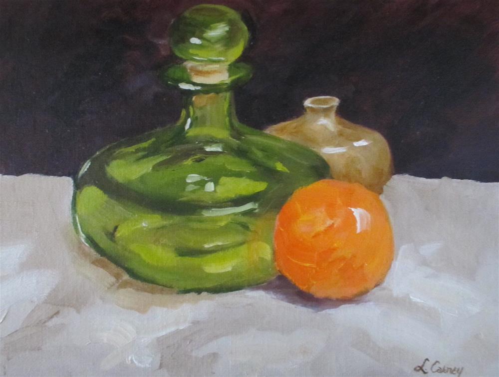 """Green, Green Glass of Home"" original fine art by Linda Carney"
