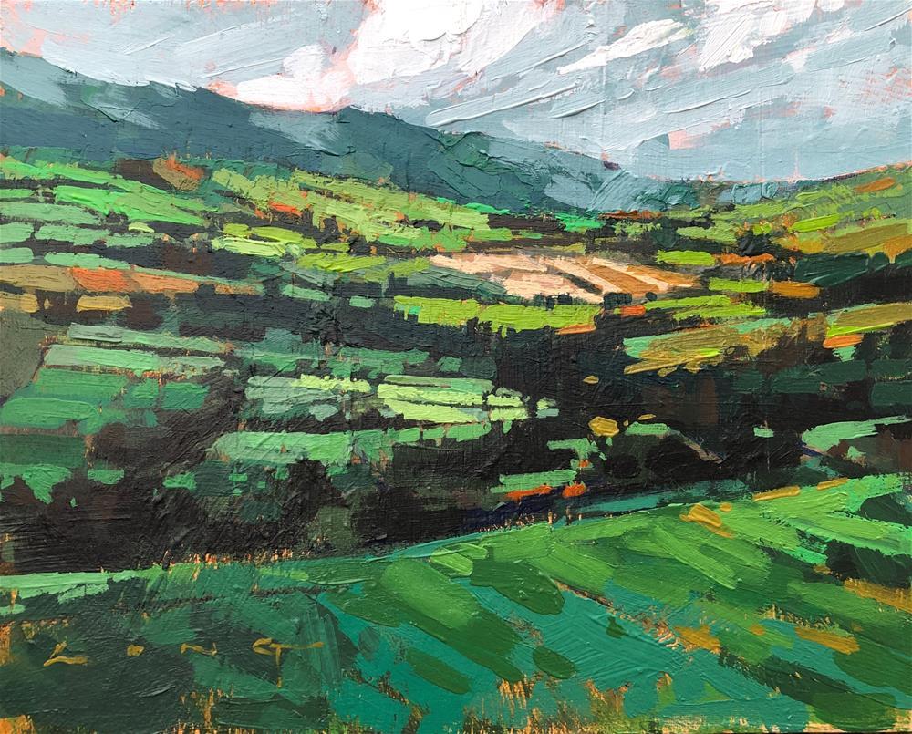 """Rolling Hills"" original fine art by Christopher Long"