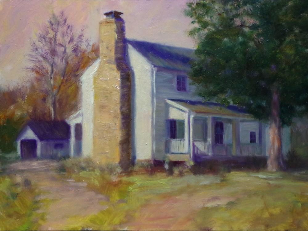 """""""Ye Olde Homestead"""" original fine art by Marilyn R. Place"""