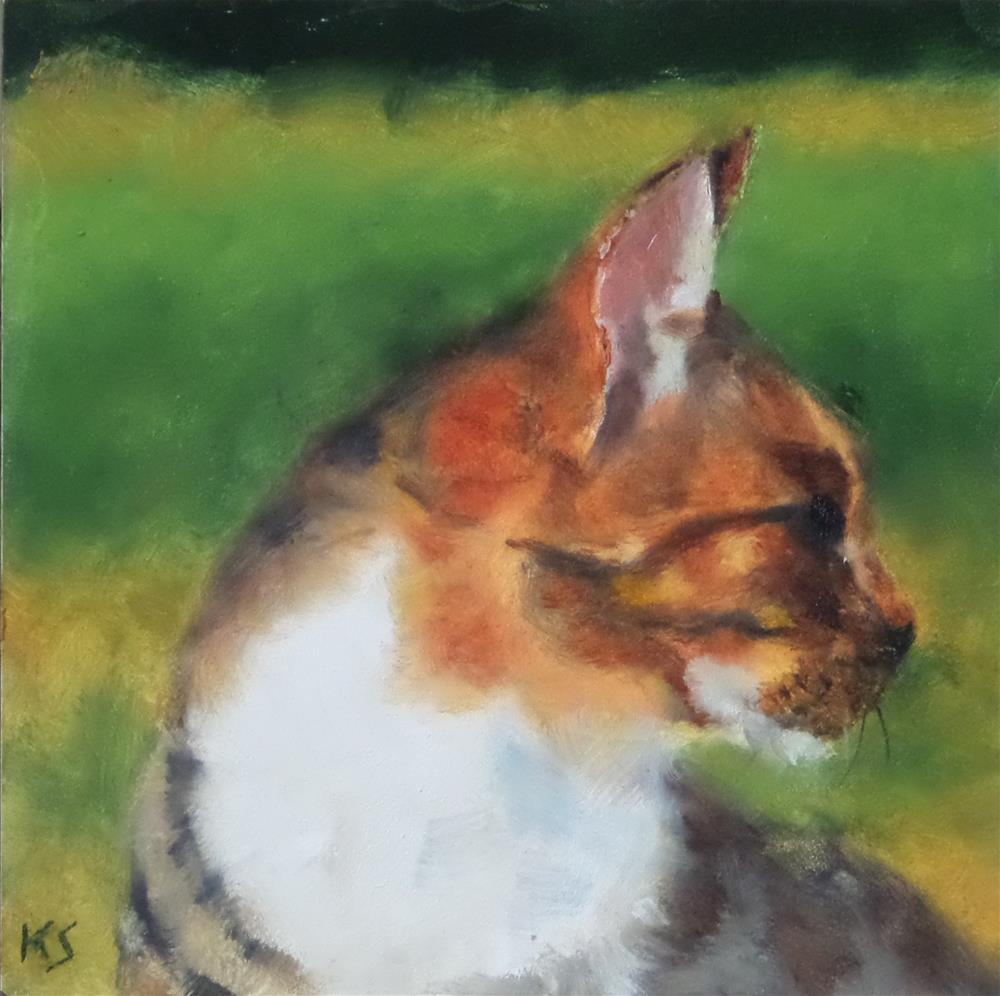 """PAWSING"" original fine art by Kris Stewart"