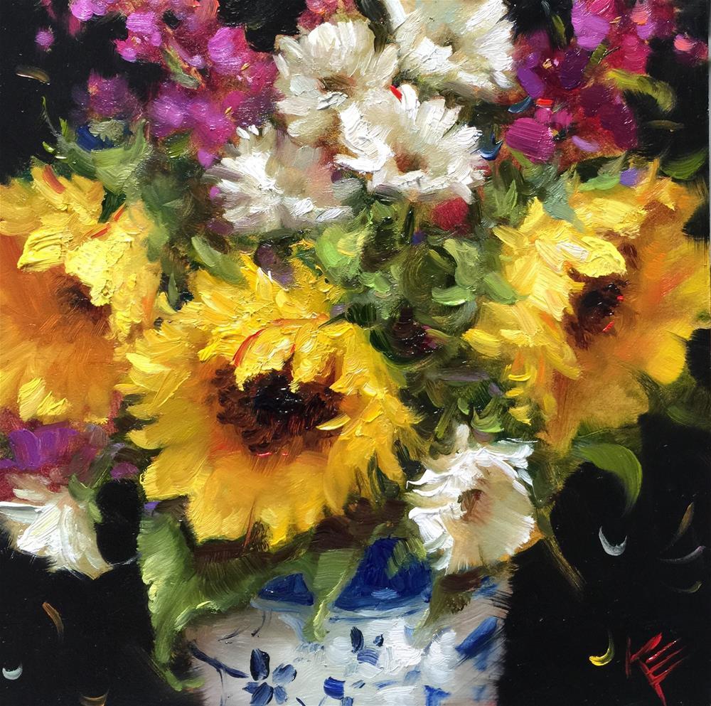 """Summertime in Blue & White"" original fine art by Krista Eaton"
