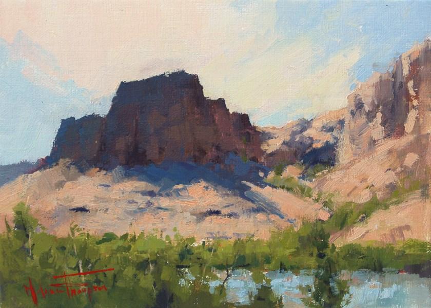 """""""Colorado River Shores"""" original fine art by Melanie Thompson"""