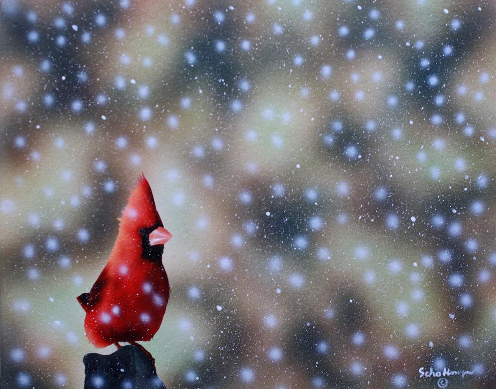 """""""Watching It Come Down"""" original fine art by Fred Schollmeyer"""