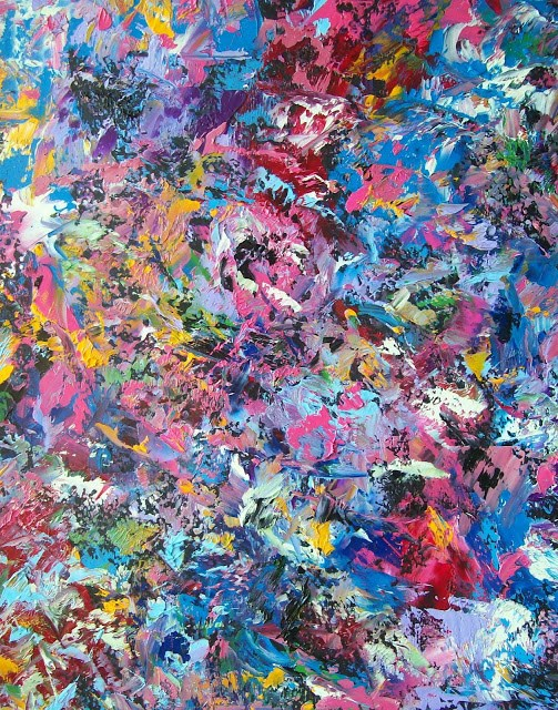 """Palette Knife Abstract Expressionism Painting Bladeworks # 47 by Contemporary Artist Kimberly Conr"" original fine art by Kimberly Conrad"