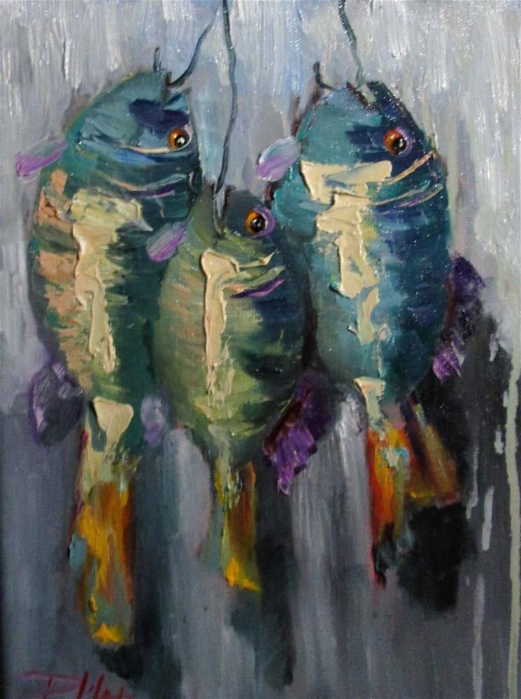 """Fish on a Hook No.5"" original fine art by Delilah Smith"