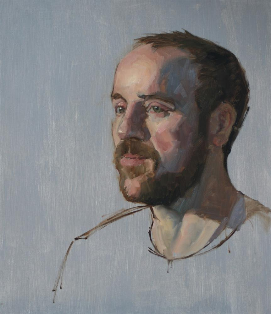 """Oil sketch of Tom"" original fine art by Liz Balkwill"
