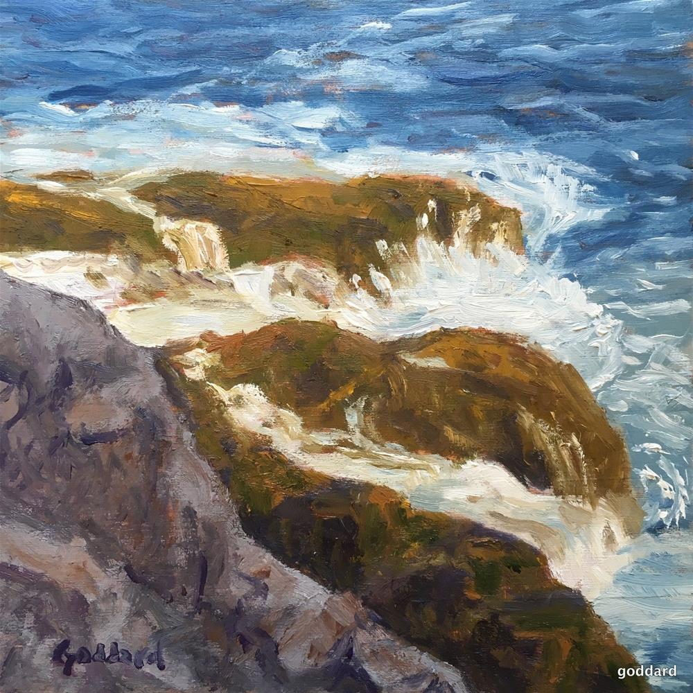 """Dancing Waves"" original fine art by Shari Goddard Shambaugh"