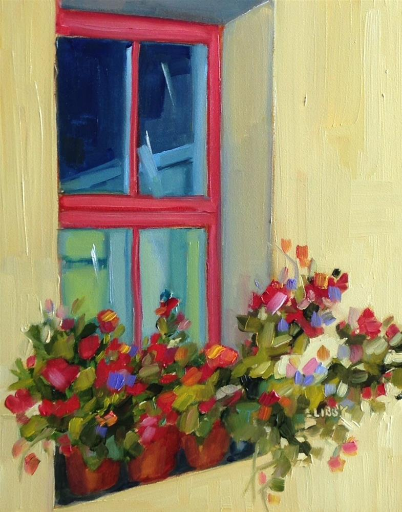 """""""Yellow Cottage"""" original fine art by Libby Anderson"""