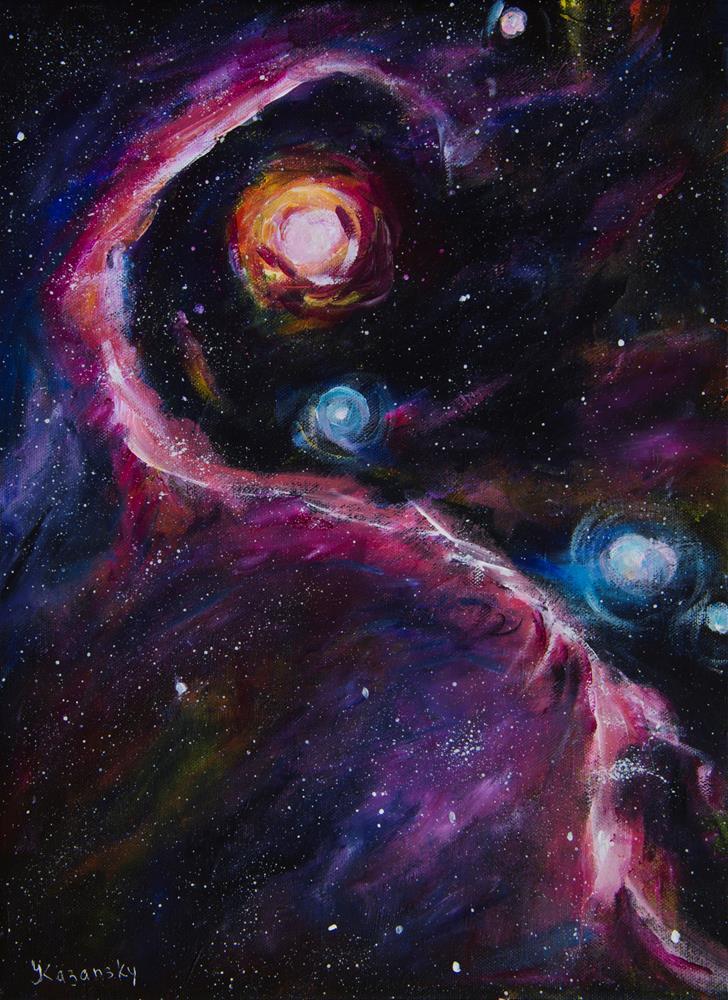 """Elephant Trunk Nebula"" original fine art by Yulia Kazansky"