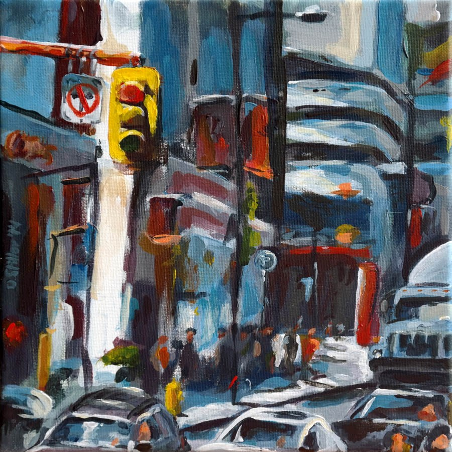 """0987 Busy Too"" original fine art by Dietmar Stiller"