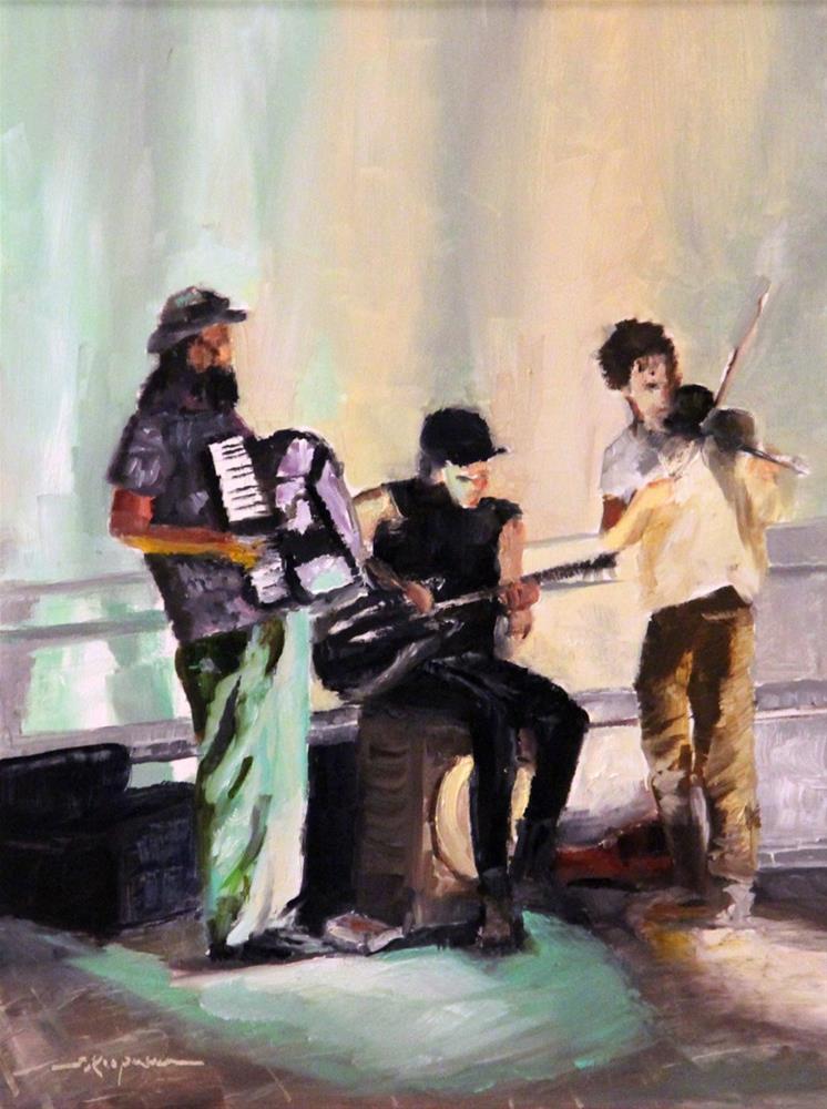 """""""In the Spotlight, Washington Square Park"""" original fine art by Shelley Koopmann"""
