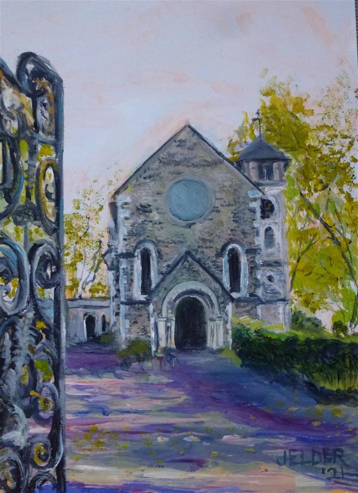 """London No. 23, St. Pancras Old Church"" original fine art by Judith Elder"