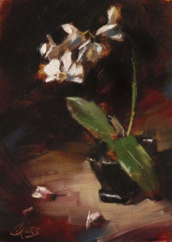 """White Orchids"" original fine art by Pamela Blaies"