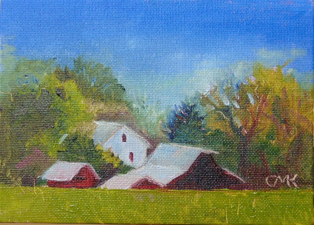 """""""Over the Hill"""" original fine art by Catherine Kauffman"""
