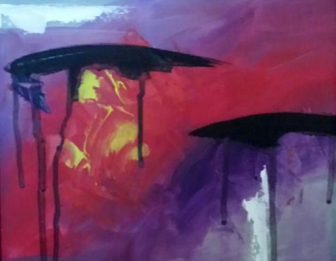 """Cloud Burst"" original fine art by Stuart Glazer"