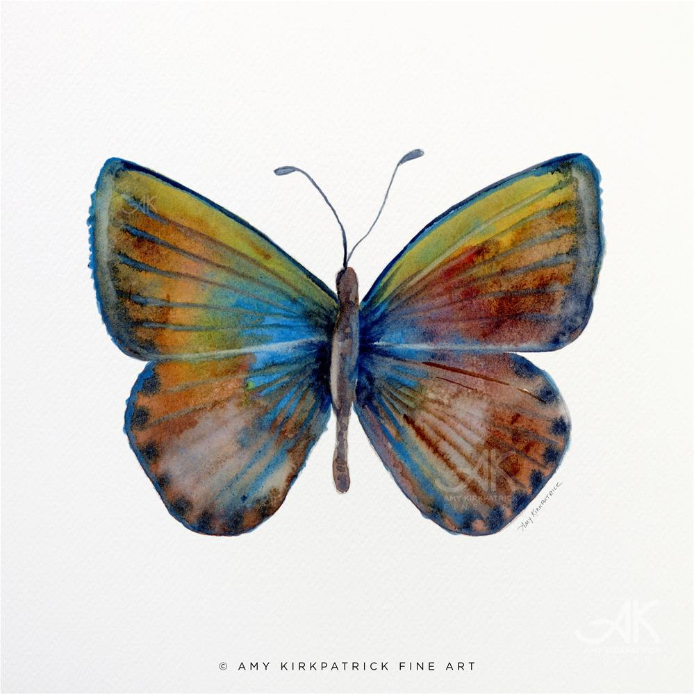 """#22 Clue Butterfly"" original fine art by Amy Kirkpatrick"