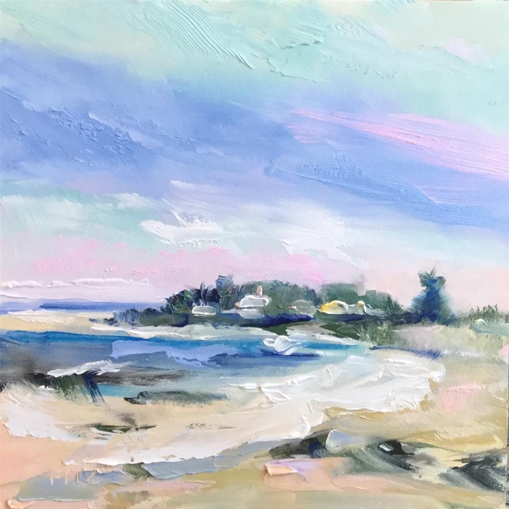 """Rocky Shore"" original fine art by Charlotte Fitzgerald"