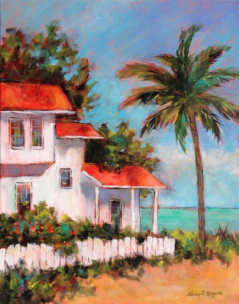 """""""Waterside House"""" original fine art by Nancy F. Morgan"""