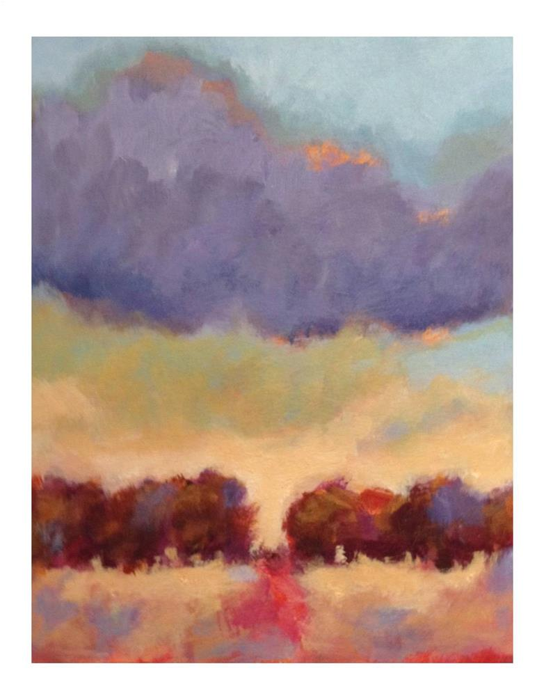 """Red Path - Purple Cloud"" original fine art by Suzanne Woodward"