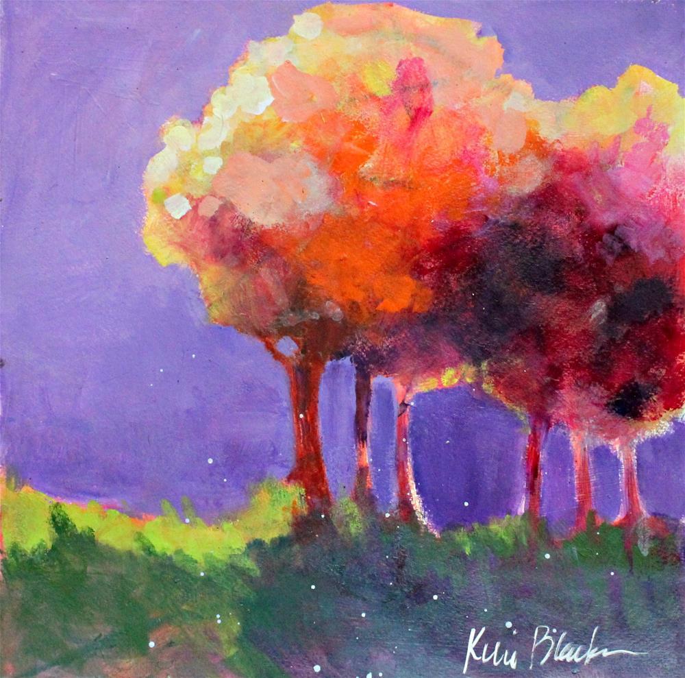 """""""Fall Trees """" original fine art by Kerri Blackman"""