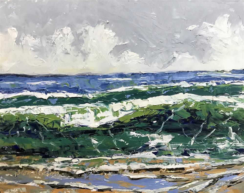 """""""Sale Painting Atlantic Waves"""" original fine art by Linda Blondheim"""