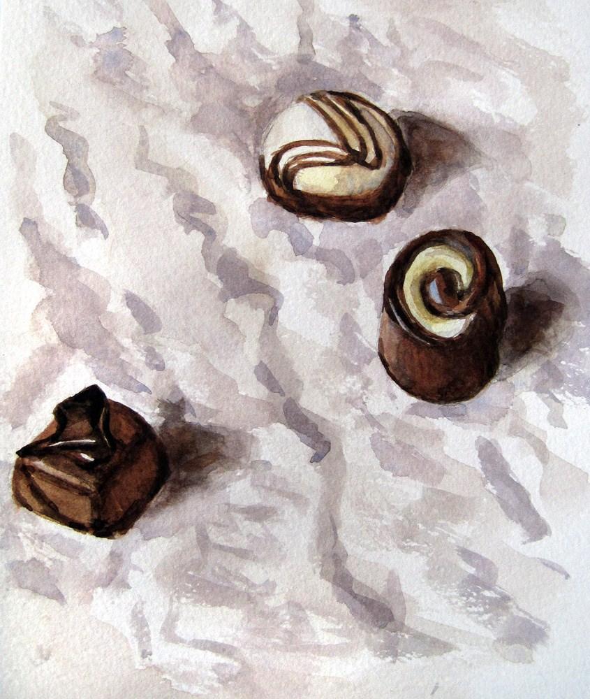 """""""Chocolates"""" original fine art by Ulrike Miesen-Schuermann"""