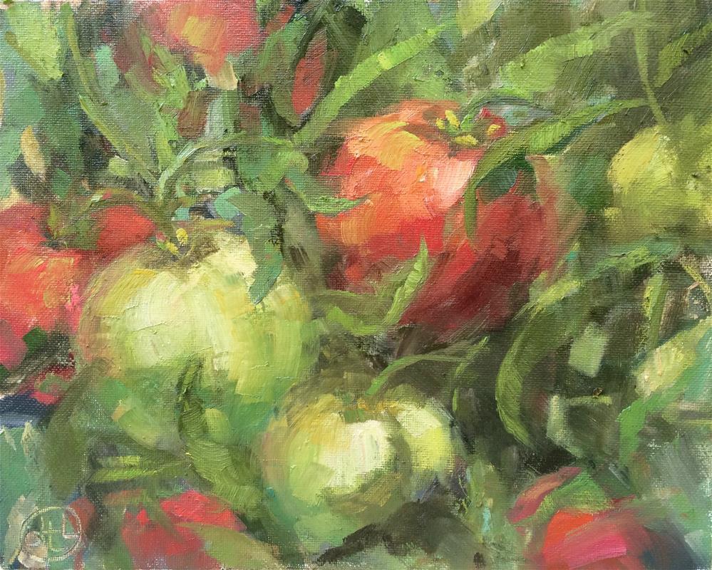 """on the vine"" original fine art by Dottie  T  Leatherwood"