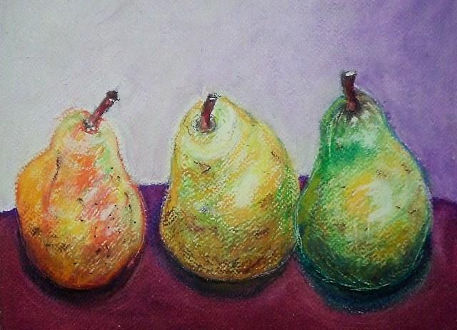 """Oil Pastel exercise"" original fine art by Mitsuru Cope"
