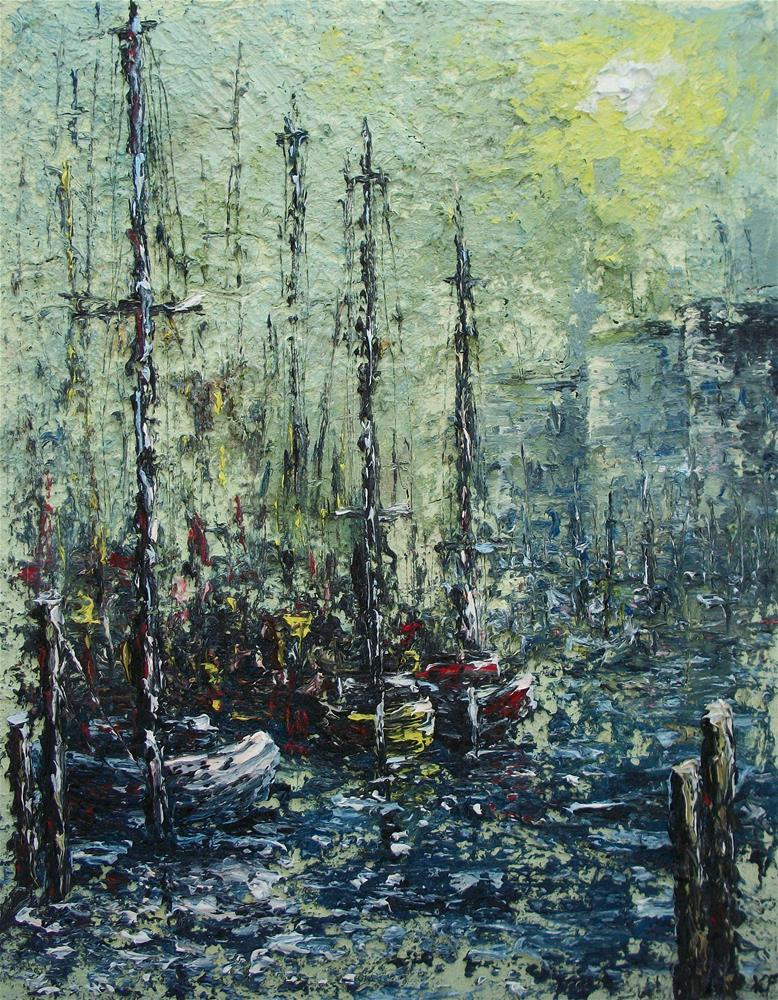 """Harbor Fog"" original fine art by Ken Fraser"