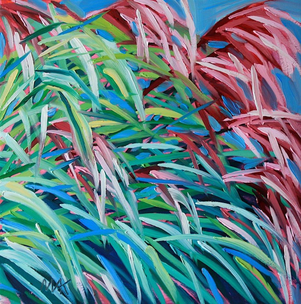 """Garden Grass"" original fine art by Mary Anne Cary"