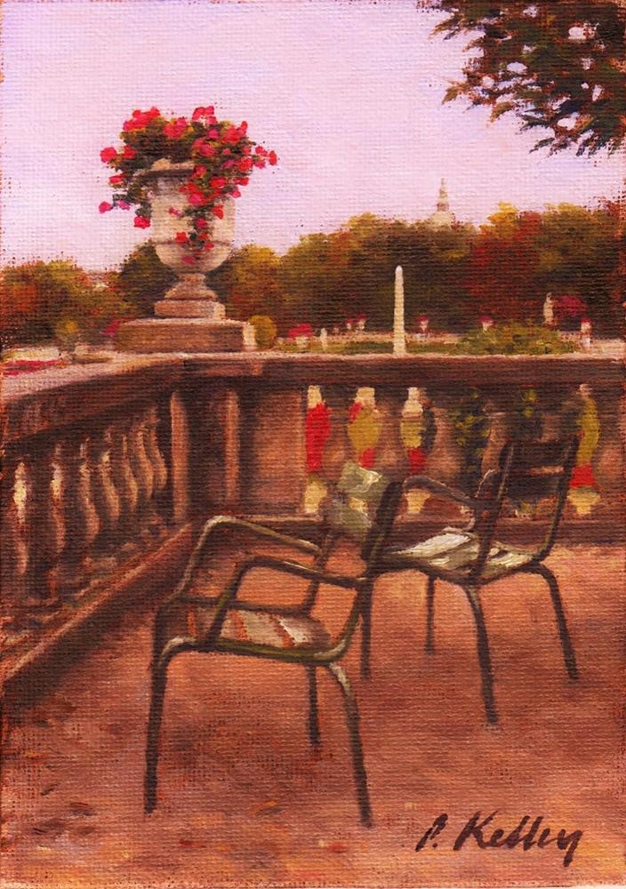"""""""Le Jardin du Luxembourg, Paris"""" original fine art by Pat Kelley"""