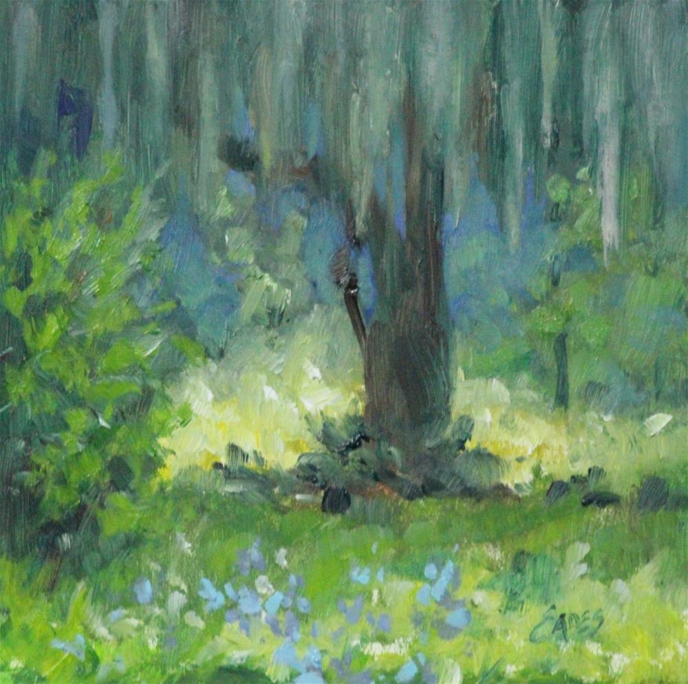 """Mossy Veil"" original fine art by Linda Eades Blackburn"