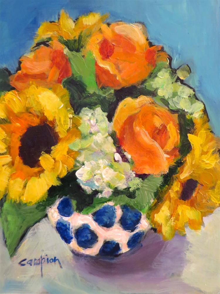 """617 Celebrate Friendship"" original fine art by Diane Campion"