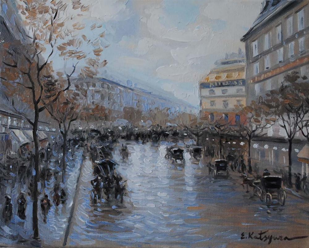 """Paris Street"" original fine art by Elena Katsyura"