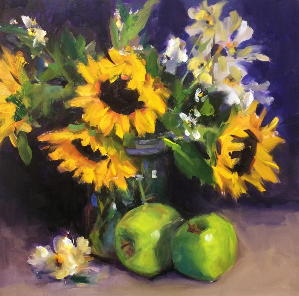 """Sunflower Infatuation"" original fine art by Laurie Johnson Lepkowska"