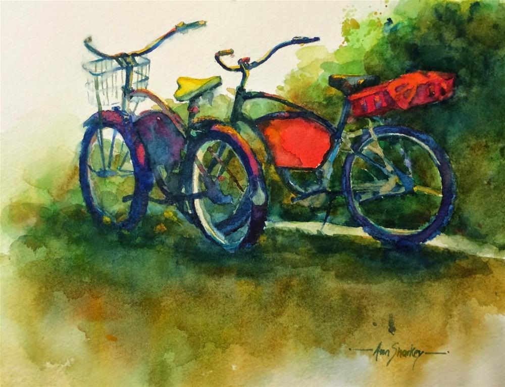 """""""Lunchtime Townies"""" original fine art by Ann Sharkey"""