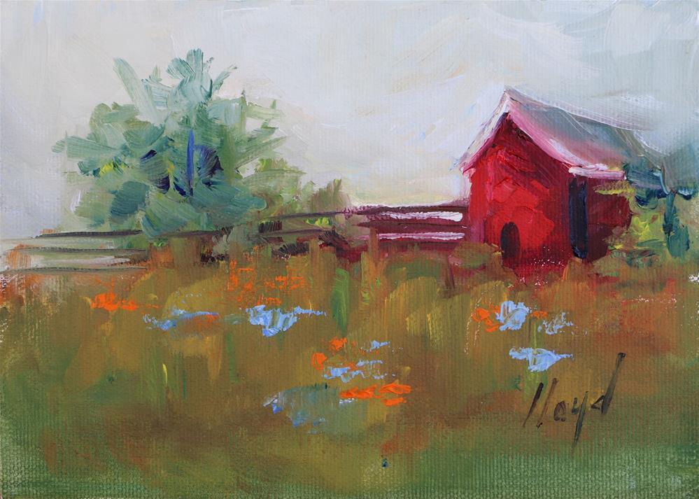 """""""Wisconsin Barn"""" original fine art by Diane Lloyd"""
