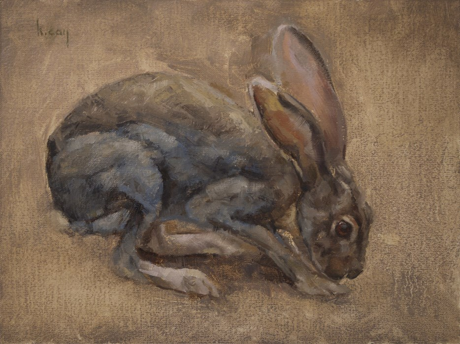 """""""Jackrabbit"""" original fine art by Kathleen Coy"""