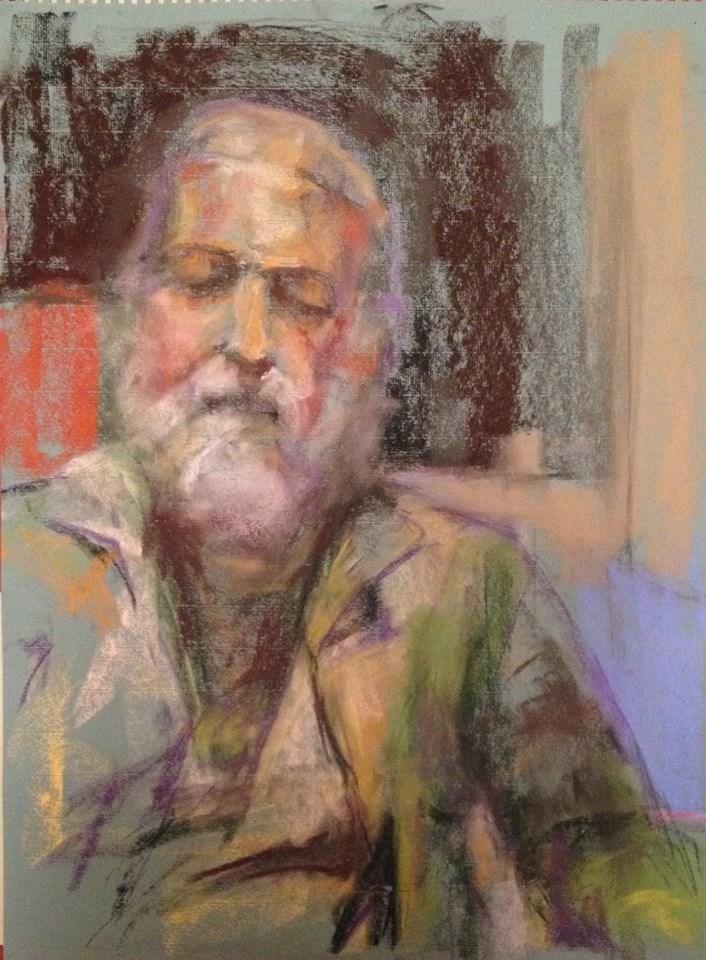 """""""Beard and Green Coat"""" original fine art by Katie Wilson"""