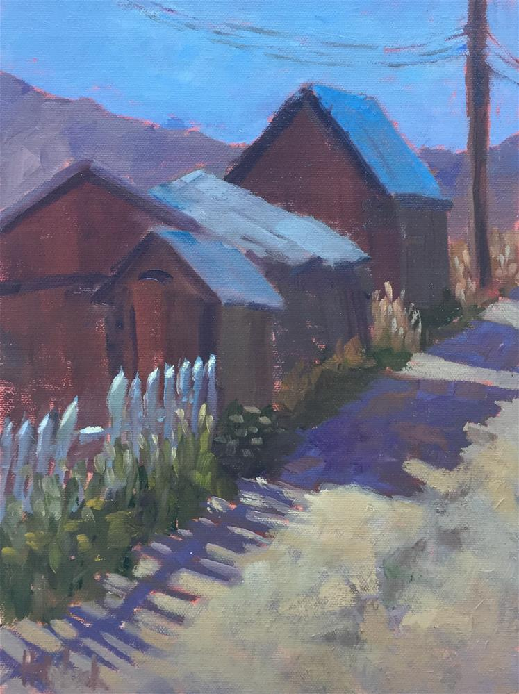 """Up Your Alley"" original fine art by Pam Holnback"