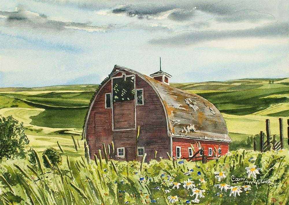 """""""Classic Country Barn"""" original fine art by Andy Sewell"""