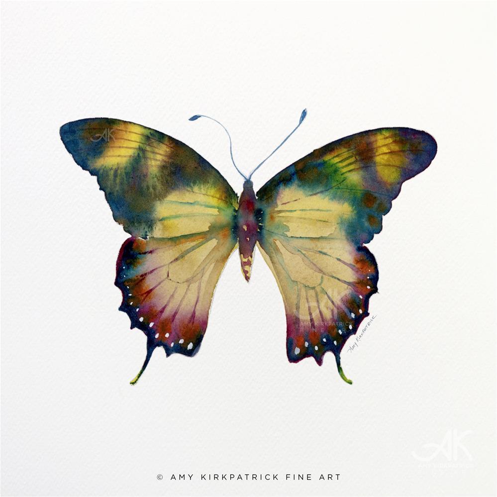 """#41 Yellow Kite Butterfly #0350"" original fine art by Amy Kirkpatrick"